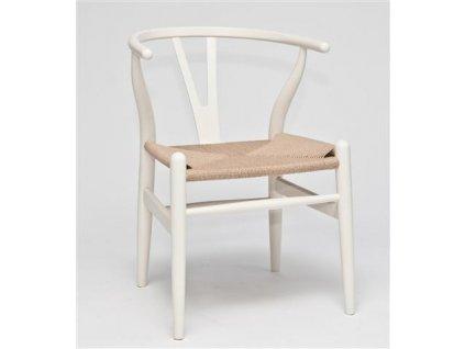 Židle Wicker bílá