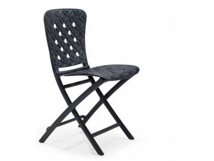 Židle skládací Zac Spring grafitová