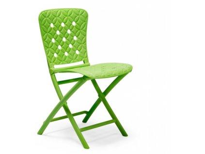 Židle skládací Zac Spring zelená