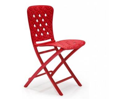 Židle skládací Zac Spring červená