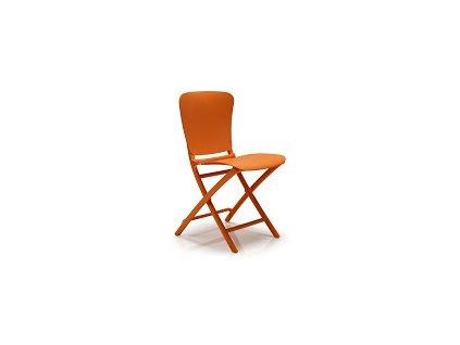 Židle skládací Zac oranžová