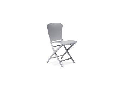 Židle skládací Zac šedá