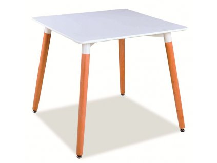 Stůl NOLAN II bílý/buk 80x80
