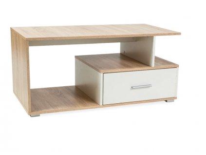 Konferenční stolek SIA BARVA DUB SONOMA/BÍLÁ 110x55x50