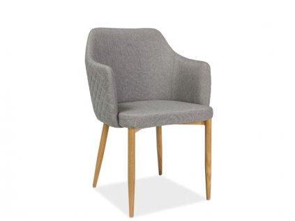Židle ASTOR šedý materiál