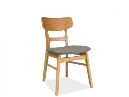 Židle CD-61 dub/šedá polstrování č.40