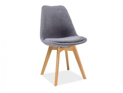 Židle DIOR buk/tmavě šedá polstrování č.32