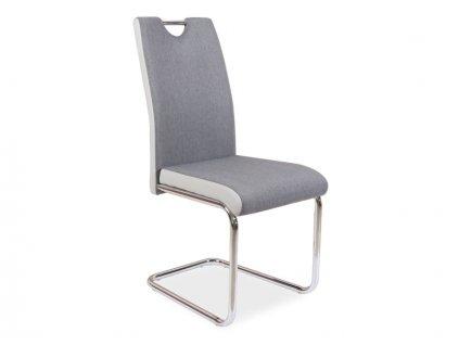 Židle H952 šedá/světle šedá koženka