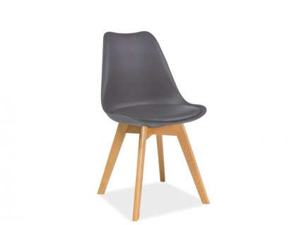 Židle KRIS buk/šedá