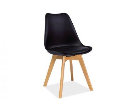 Židle KRIS buk/černá
