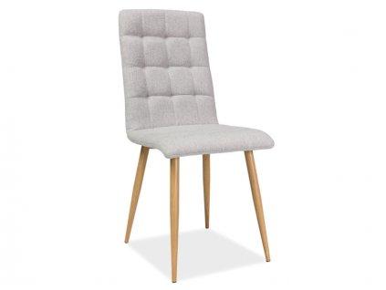 Židle OTTO béžová/dubová kostra