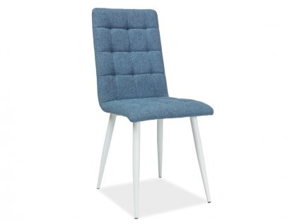 Židle OTTO modrá/kostra bílý mat