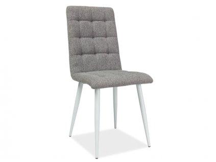 Židle OTTO šedá/kostra bílý mat