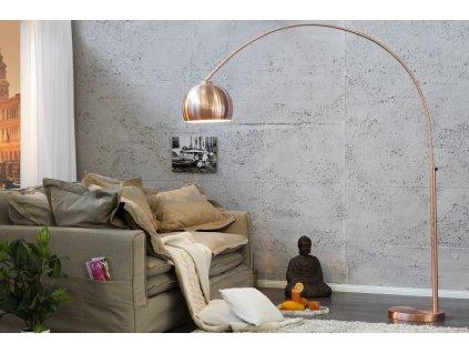 Lampa stojanová SLACK měděná 170-210