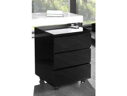 Malý kontejner pod psací stůl LUMINO černý