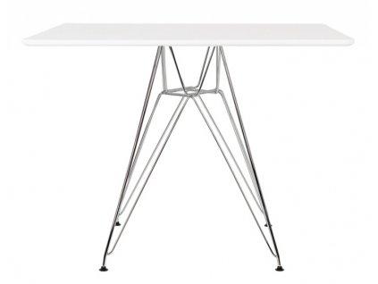 Stůl DSR SQUARE 100/100, deska mdf - ocelový základ