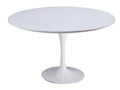 Stůl TULIP * 120 - deska skleněné vlákno bílá