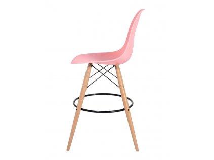 Barová židle DSW WOOD světlá broskev č.34 - základ je z bukového dřeva