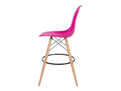 Barová židle DSW WOOD zuřivá roz č.22 - základ je z bukového dřeva