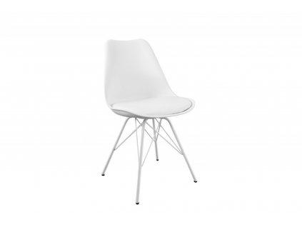 Židle HUGO bílá, základ bílý