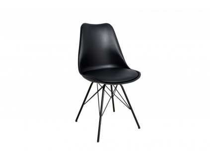 Židle HUGO černá, základ černý