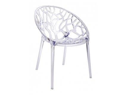 Židle KORAL transparentní - polykarbonát