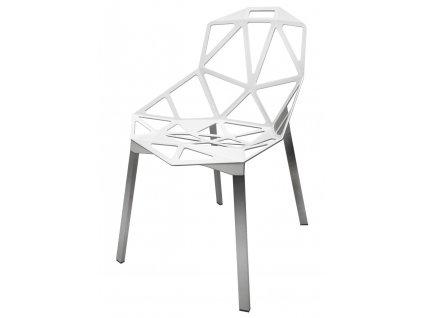 Židle SPLIT bílá - hliník
