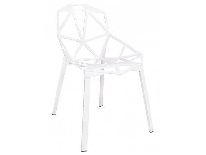 Židle SPLIT bílá - hliník, nohy bílé