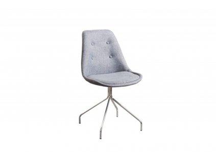 Židle čalouněná HUGO SPIDER šedá