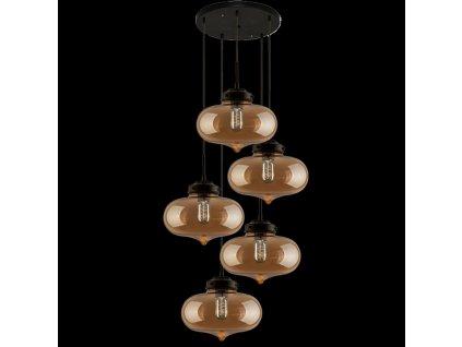 Lampa závěsná LONDON LOFT 1 co jantar