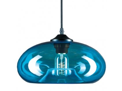 Lampa závěsná LONDON LOFT 3 modrá