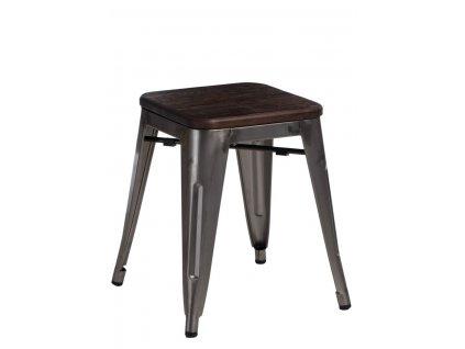 Stolek Paris Wood kovový sosna kartáčovaná