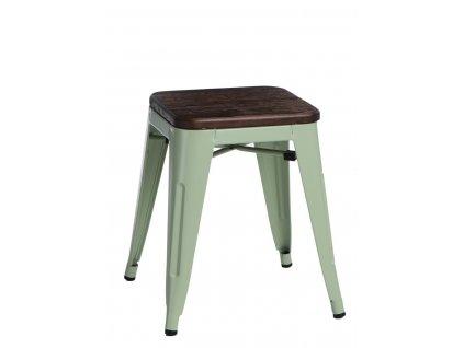 Stolek Paris Wood zelený sosna kartáčovaná