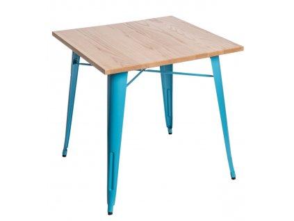 Stůl Paris Wood modrý jasan
