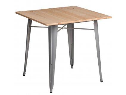 Stůl Paris Wood šedý přírodní sosna