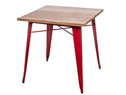 Stůl Paris Wood červený jasan