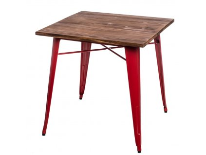 Stůl Paris Wood červený sosna