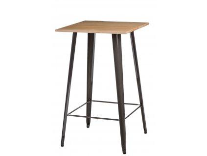 Stůl barový Paris Wood kovový přírodní sosna