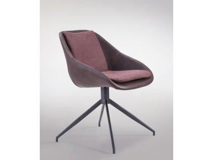 Židle Poter Soft otočná tmavě hnědá