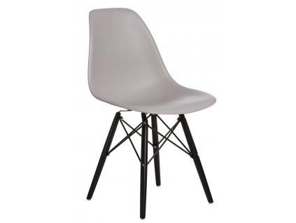Židle P016V pp světle šedá/černá