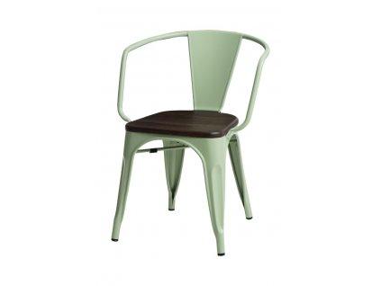 Židle Paris Arms Wood zelená sosna kartáčovaná