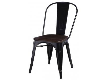 Židle Paris Wood černá sosna kartáčovaná