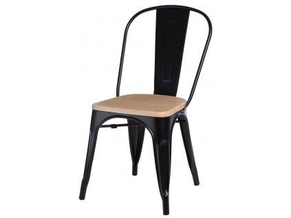 Židle Paris Wood černá přírodní sosna