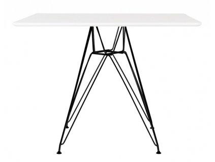 Stůl DSR SQUARE black 100/100, deska mdf - ocelový základ lakovaný na černo