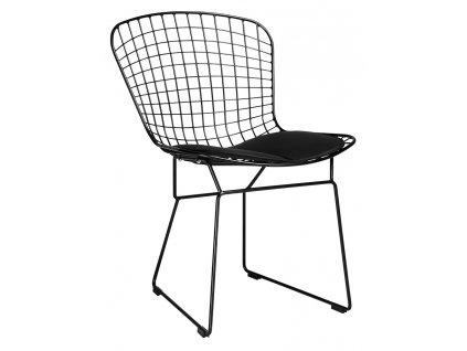 Židle NET soft - černá / černý polštář
