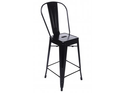 Barová židle TOWER BACK 66cm černá kov