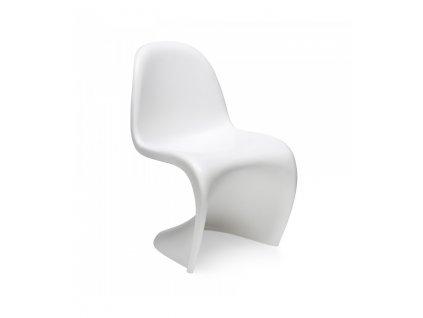 Dětská židle HOVER JUNIOR bílá - polypropylen
