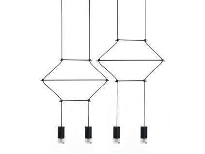 Závěsná lampa FLUSSO LINE 4