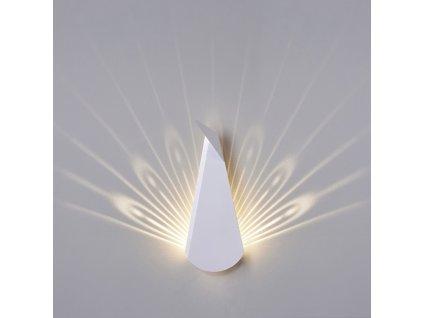 Nástěnná lampa PAWA bílá - uhlíkové vlákno