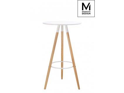 MODESTO stolek DIPP bílý - deska mdf, bukový základ